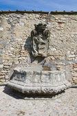 Historical fountain. Narni. Umbria. Italy. — Stock Photo