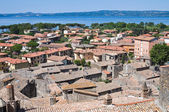Panoramic view of Bolsena. Lazio. Italy. — Foto de Stock