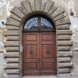 Wooden door. Nepi. Lazio. Italy. — Stock Photo