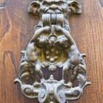 Doorknocker. Vetralla. Lazio. Italy. — Stock Photo