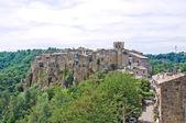 Vista panoramica di calcata. lazio. italia. — Foto Stock