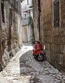 Alleyway. Calcata. Lazio. Italy. — Stock Photo