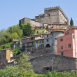 Panoramic view of Soriano nel Cimino. Lazio. Italy. - Stock Photo