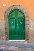 Wooden door. Soriano nel Cimino. Lazio. Italy. — Stock Photo