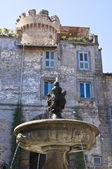 Monumental fountain. Bagnaia. Lazio. Italy. — Stock Photo