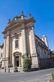 Kyrkan st. antonio abate. bagnaia. lazio. italien. — Stockfoto
