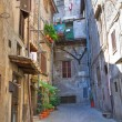Stock Photo: Alleyway. Bagnaia. Lazio. Italy.