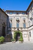 Palacio de la logia. bagnaia. lazio. italia. — Foto de Stock