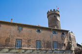 Palace of the Loggia. Bagnaia. Lazio. Italy. — Stock Photo
