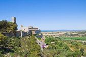 Panoramisch zicht van tarquinia. lazio. italië. — Stockfoto
