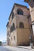 Vitelleschi 宮殿。タルクイーニア。ラツィオ州。イタリア. — ストック写真