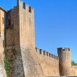Fortified walls. Tuscania. Lazio. Italy. — Stock Photo