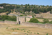 Fortified walls. Tuscania. Lazio. Italy. — Photo