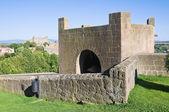 Fortified walls. Tuscania. Lazio. Italy. — Stock Photo