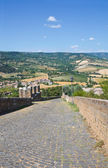 Fortified walls. Orvieto. Umbria. Italy. — Stockfoto