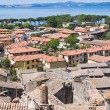 Stok fotoğraf: Panoramic view of Bolsena. Lazio. Italy.