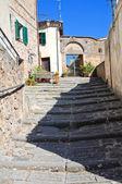 Alleyway. Acquapendente. Lazio. Italy. — Stockfoto