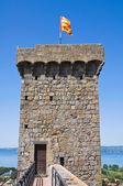 Slottet av bolsena. lazio. italien. — Stockfoto