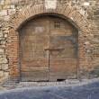 Stock Photo: Wooden door. San Gemini. Umbria. Italy.
