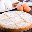Stock Photo: Ricotta cheese crostata.
