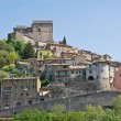 Panoramic view of Soriano nel Cimino. Lazio. Italy. — Stock Photo