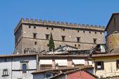 Panoramatický pohled na soriano nel cimino. lazio. itálie. — Stock fotografie