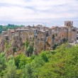 Panoramic view of Calcata. Lazio. Italy. — Stock Photo