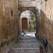 Alleyway. Calcata. Lazio. Italy. — Stockfoto #14035640