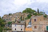 Panoramic view of Calcata. Lazio. Italy. — Stock Photo
