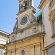 Clocktower. Galatina. Puglia. Italy. - Stock Photo