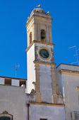 Clocktower. copertino. puglia. italien. — Stockfoto
