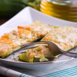 Zucchini stuffed with cheese. — Stock Photo #14555225