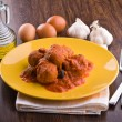 Stock Photo: Meatballs with tomato sauce.