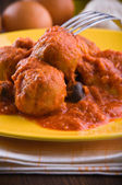 Meatballs with tomato sauce. — Foto de Stock