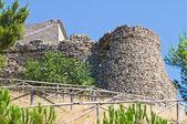 Fortified walls. Sant'Agata di Puglia. Puglia. Italy. — Stok fotoğraf