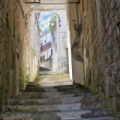 Alleyway. Maratea. Basilicata. Italy. - Stock Photo