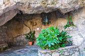 Votive cave. Maratea. Basilicata. Italy. — Stockfoto