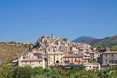Panoramablick über scalea. kalabrien. italien. — Stockfoto