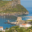 Panoramic view of Praia a Mare. Calabria. Italy. — Stock Photo