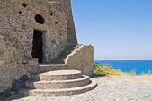 Talao tower. Scalea. Calabria. Italy. — Foto Stock