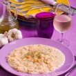 Stock Photo: Shrimp risotto.