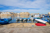 Panoramic view of Gallipoli. Puglia. Italy. — Stock Photo