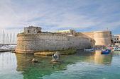 Angevine-Aragonese Castle. Gallipoli. Puglia. Italy. — Stock Photo