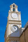 Klocktornet. Gallipoli. Puglia. Italien. — Stockfoto
