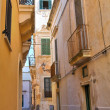 Alleyway. Gallipoli. Puglia. Italy. — Stock Photo