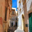 Alleyway. Gallipoli. Puglia. Italy. - Stock Photo