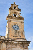 Clocktower. Galatone. Puglia. Italy. — Stock Photo