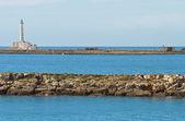 Panoramautsikt över gallipoli. Puglia. Italien. — Stockfoto