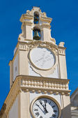 Clocktower. Gallipoli. Puglia. Italy. — Foto de Stock