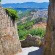 Alleyway. Civita di Bagnoregio. Lazio. Italy. — Stock Photo